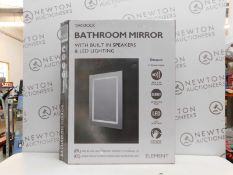 1 BOXED TAVISTOCK ELEMENT BLUETOOTH SPEAKER LED BATHROOM MIRROR RRP £199