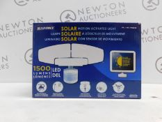 1 BOXED SUNFORCE 1500 LUMEN LED TRIPLE HEAD SOLAR MOTION ACTIVATED SECURITY RRP £49.99