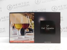 1 BOXED CHEF & SOMMELIER 8 PIECE KRYSTA EXTRA STRONG CRYSTAL WINE GLASSES RRP £39.99