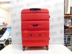 1 AMERICAN TOURISTER BON AIR RED COMBI-LOCK HARDSIDE PROTECTION LUGGAGE CASE RRP £125
