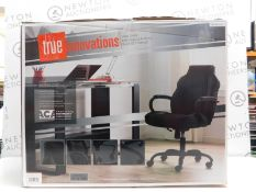 1 BOXED TRUE INNOVATIONS BLACK BONDED GAS LIFT TASK CHAIR RRP £149.99