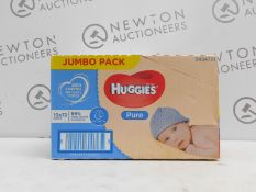 1 BOXED HUGGIES 10PK (APPROX) PURE WATER WIPES RRP RRP £24.99
