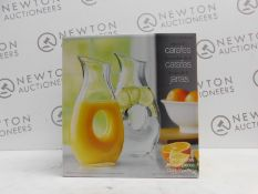 1 BOXED GLASS CARAFE RRP £29.99 (1 IN BOX)