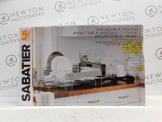 1 BOXED SABATIER EXPANDABLE DISHRACK RRP £42.99