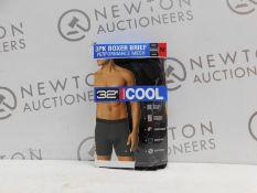 1 BOXED 3PC 32HEAT PERFORMANCE MESH BOXER BRIEFS SIZE M RRP £24.99