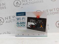 1 BOXED LA CROSSE TECHNOLOGY WI-FI PROJECTION ALARM CLOCK RRP £49.99