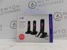 1 BOXED BT PREMIUM TRIO CORDLESS PHONE SET RRP £89.99