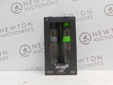 1 BOXED 2 PACK BODDELS SUND GLASS CARAFE WITH FRUIT SKEWER 1.1L RRP £29.99