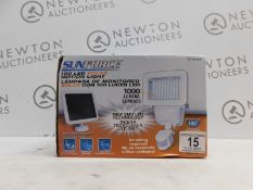 1 BOXED SUNFORCE 100 LEDSOLAR MOTION ACTIVATED SECURITY LIGHT RRP £49.99