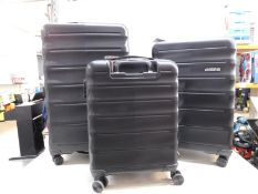 1 AMERICAN TOURISTER SPEEDLINK 3 PIECE HARDSIDE SUITCASE/LUGGAGE SET RRP £299 (EXCELLENT