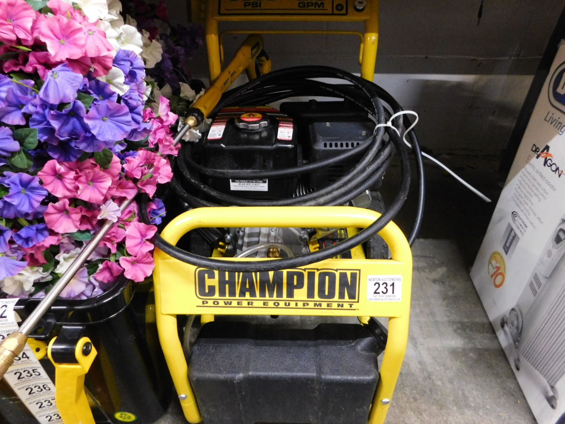 Lot 231 - 1 CHAMPION 3000 PSI PETROL HIGH PRESSURE WASHER RRP £499