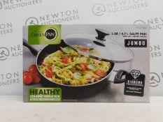 1 BOXED GREENPAN JUMBO 4.7L SAUTE PAN WITH LID RRP £49.99