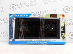 """1 BOXED ACURITE 75100C 18"""" DIGITAL CLOCK WITH INDOOR TEMPERATURE RRP £64.99"""