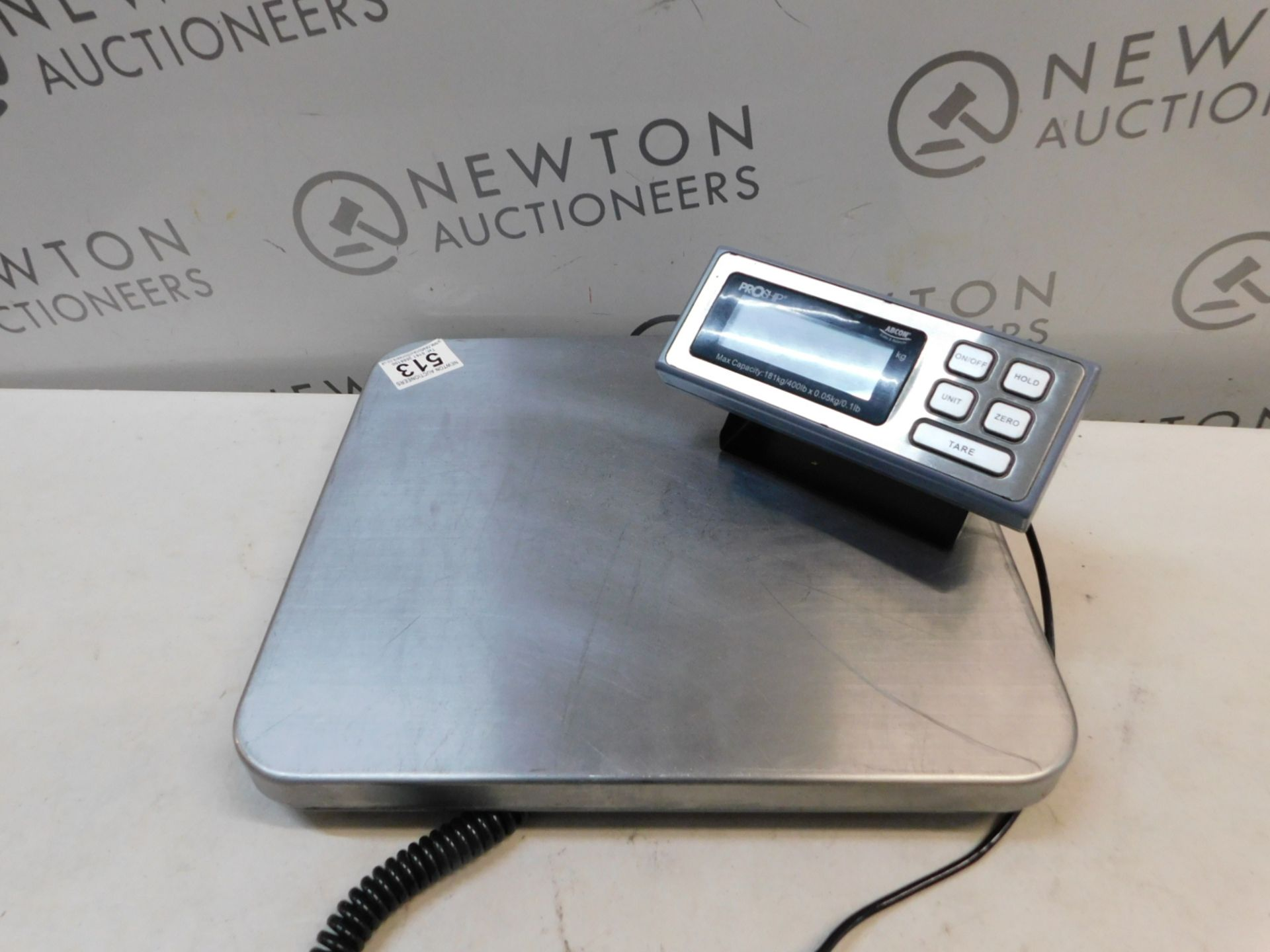 Lot 513 - 1 ABCON PROSHIP LARGE HEAVY DUTY ELECTRONIC SCALE (181KG/ 400LBS CAPACITY) RRP £129.99