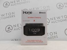 1 BOXED IHOME IBTW23 WIRELESS BLUETOOTH ALARM CLOCK WITH SPEAKERPHONE AND WIRELESS CHARGING RRP £
