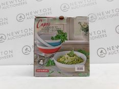 1 BOXED OVER AND BACK CAPRI 4PC BOWL SET RRP £39.99