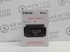 1 IHOME IBTW23 WIRELESS BLUETOOTH ALARM CLOCK WITH SPEAKERPHONE AND WIRELESS CHARGING RRP £64.99