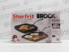 1 BOXED STARFRIT THE ROCK GRILL PAN & GRIDDLE SET RRP £79