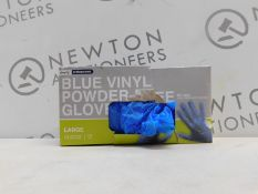 1 BOXED CLEARLY PROFESSIONAL BLUE VINYL GLOVES RRP £9