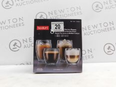 1 BOXED BODUM PAVINA 8PC DOUBLE WALLED THERMO GLASSES RRP £79.99
