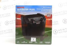 1 BOXED ION TAILGATER PLUS WIRELESS RECHARGEABLE PORTABLE SPEAKER SYSTEM RRP £149.99