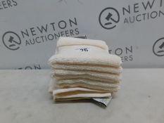 1 SET OF 6 CHARISMA LUXURY BEIGE COTTON FACE TOWELS RRP £29.99