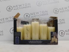 1 BOXED SET OF 5 LED FLAMELESS LED WAX CANDELS RRP £39.99