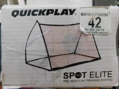 1 BOXED QUICKPLAY SPOT ELITE 2-IN-1 FOOTBALL REBOUNDER NET & FREE KICK WALL RRP £129.99