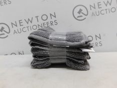 1 SET OF 5 CHARISMA LUXURY GREY COTTON FACE TOWELS RRP £29.99
