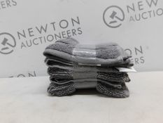 1 SET OF 6 CHARISMA LUXURY GREY COTTON FACE TOWELS RRP £29.99
