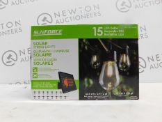 1 BOXED SUNFORCE 15 LED BULBS 10M SOLAR STRING LIGHTS RRP £49.99