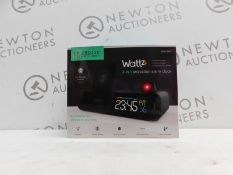 1 BOXED LA CROSSE TECHNOLOGY WATTZ 3-IN-1 WIRELESS CHARGING PROJECTION ALARM CLOCK RRP £64.99