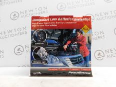 1 BOXED POWERSTATION PSX3 BATTERY JUMPSTARTER WITH BUILT IN LIGHT AND COMPRESSOR RRP £129.99