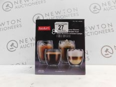 1 BOXED BODUM PAVINA 6PC DOUBLE WALLED THERMO GLASSES RRP £79.99