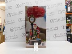 1 BRAND NEW BOXED 20 INCH (51 CM) CHRISTMAS CLOCK WITH SANTA AND LED TREE RRP £70