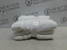 1 SET OF 3 GRANDEUR HOSPITALITY WHITE BATH TOWELS RRP £24.99