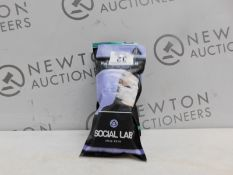 1 PACKED 4PC SOCIAL LAB TRIPLE LAYER REUSABLE FACE MASKS RRP £15