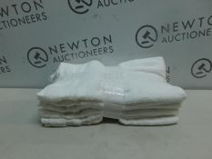 1 SET OF 7 GRANDEUR HOSPITALITY WHITE HAND TOWELS RRP £24.99