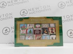 1 BRAND NEW SEALED BOX OF 30 HANDCRAFTED CHRISTMAS CARDS WITH SELF-SEALING ENVELOPES RRP £29.99