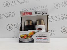 1 BOXED SET OF 2 THERMOS VACUUM INSULATED 470ML FOOD JARS RRP £39.99