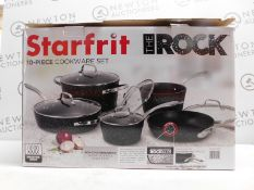 1 BOXED STARFRIT THE ROCK 10 PIECE COOKWARE PAN SET RRP £149.99