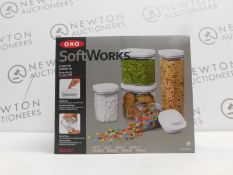 1 BOXED OXO SOFT WORKS 5PC(APPROX) FOOD STORAGE POP CONTAINER SET RRP £64.99