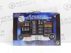 1 BOXED ART 101 ARTISTS SUITE 128PC PAINTING AND DRAWING SET RRP £79.99 (LIKE NEW)