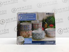 1 BOXED SET OF 5 SIGNATURE MICROWAVABLE STORAGE BOWLS WITH LIDS RRP £44.99