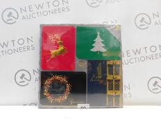 1 BRAND NEW PACK OF 40 BURGOYNE HANDMADE CHRISTMAS CARDS WITH MATCHING ENVELOPES RRP £29.99