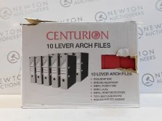 1 BOXED 9 CENTURION LEVER ARCH FILES RRP £39.99