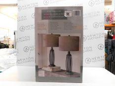 1 BOXED UTTERMOST JOLEN STEEL & GLASS TABLE LAMPS RRP £99