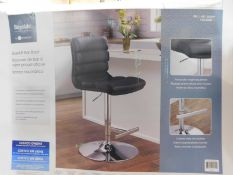 1 BOXED BAYSIDE FURNISHINGS FAUX LEATHER GAS LIFT BAR STOOL RRP £119.99