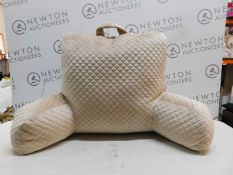 1 ARLEE HOME FASHION LARGE BEIGE BACKREST PILLOW RRP £29.99