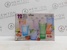 1 BOXED TRITAN OMBRE ACRYLIC 6 IN BOX DRINKWARE SET RRP £29.99